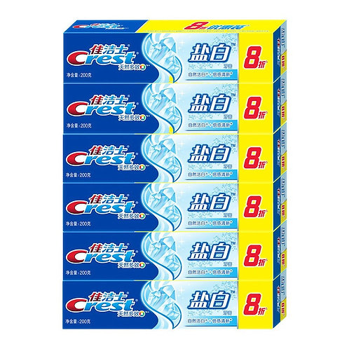 Crest toothpaste crystal white 6 pack
