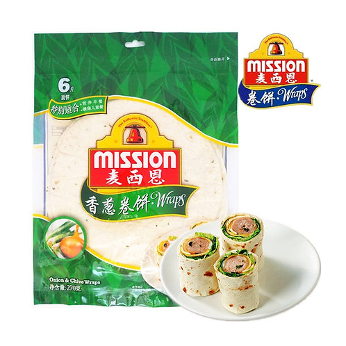 Mission onion & chive tortillas 3 pack