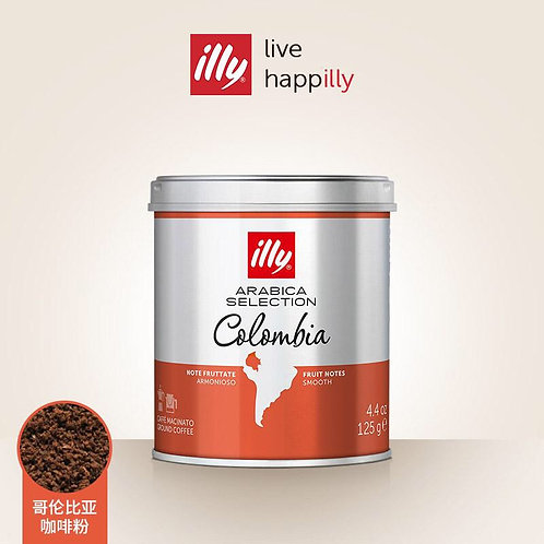 illy coffee grounds 125g