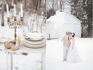 Mariage en hiver, so cool