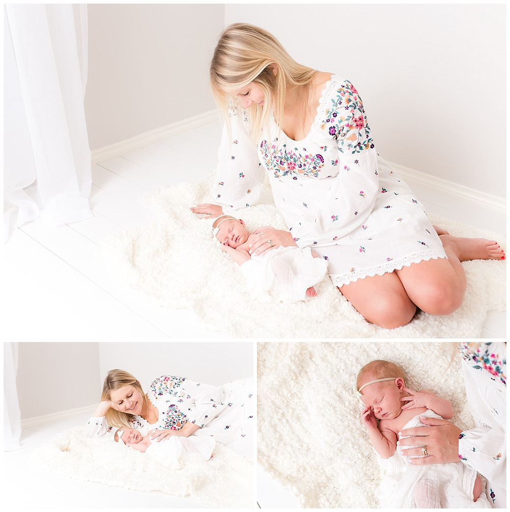 newborn photography with mom in Dallas