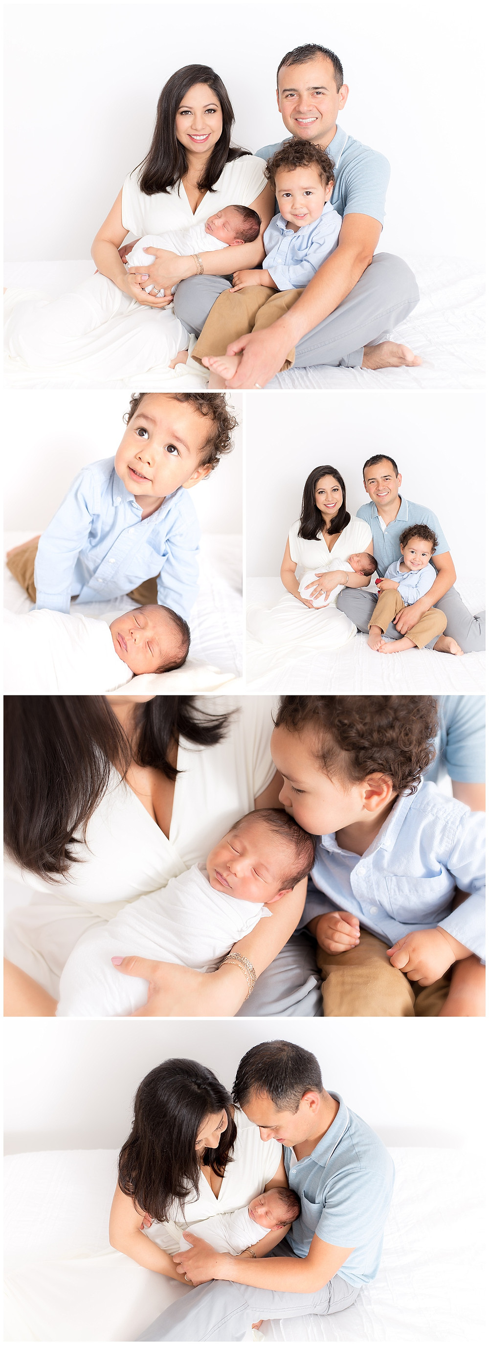 family newborn posing, family photography with baby