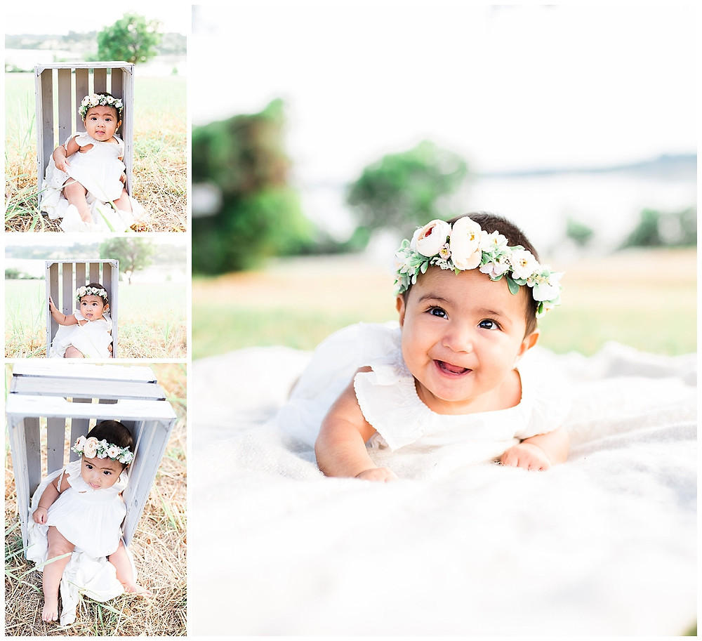 light and airy baby photos