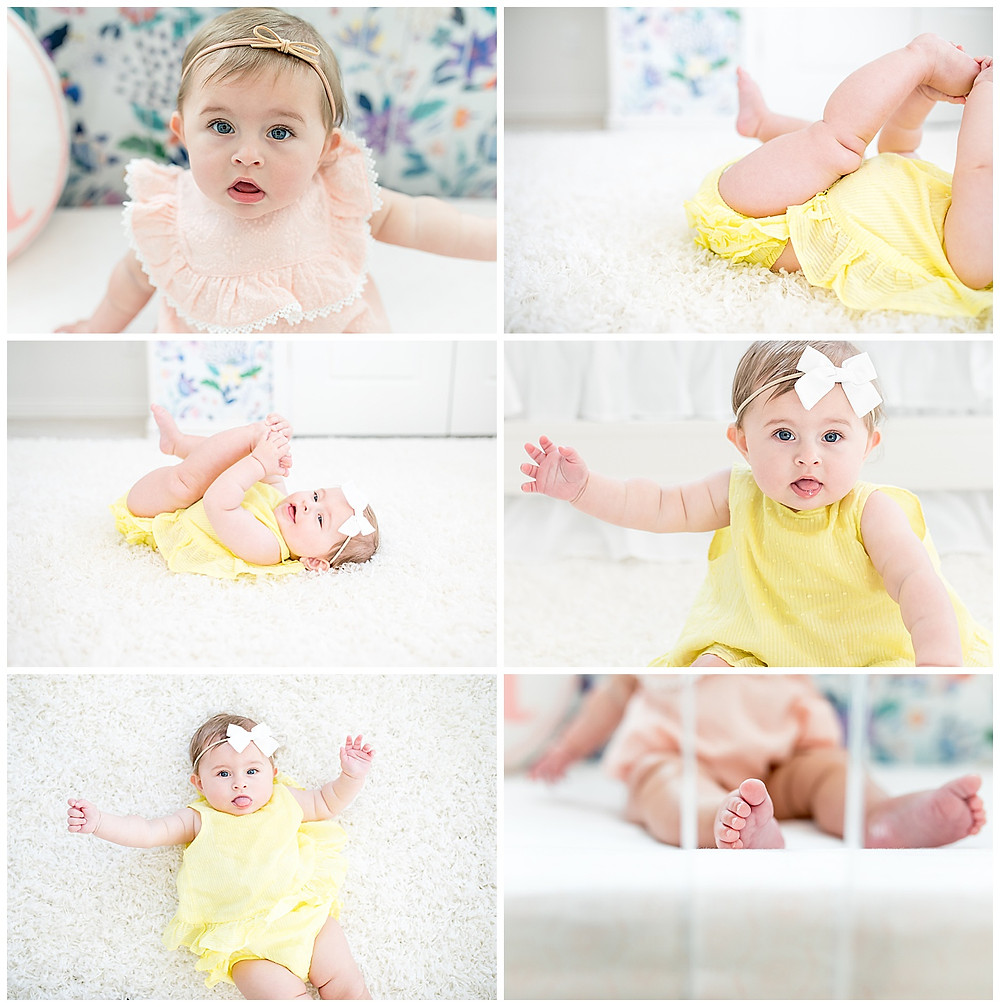 milestone photo session at 6 months old