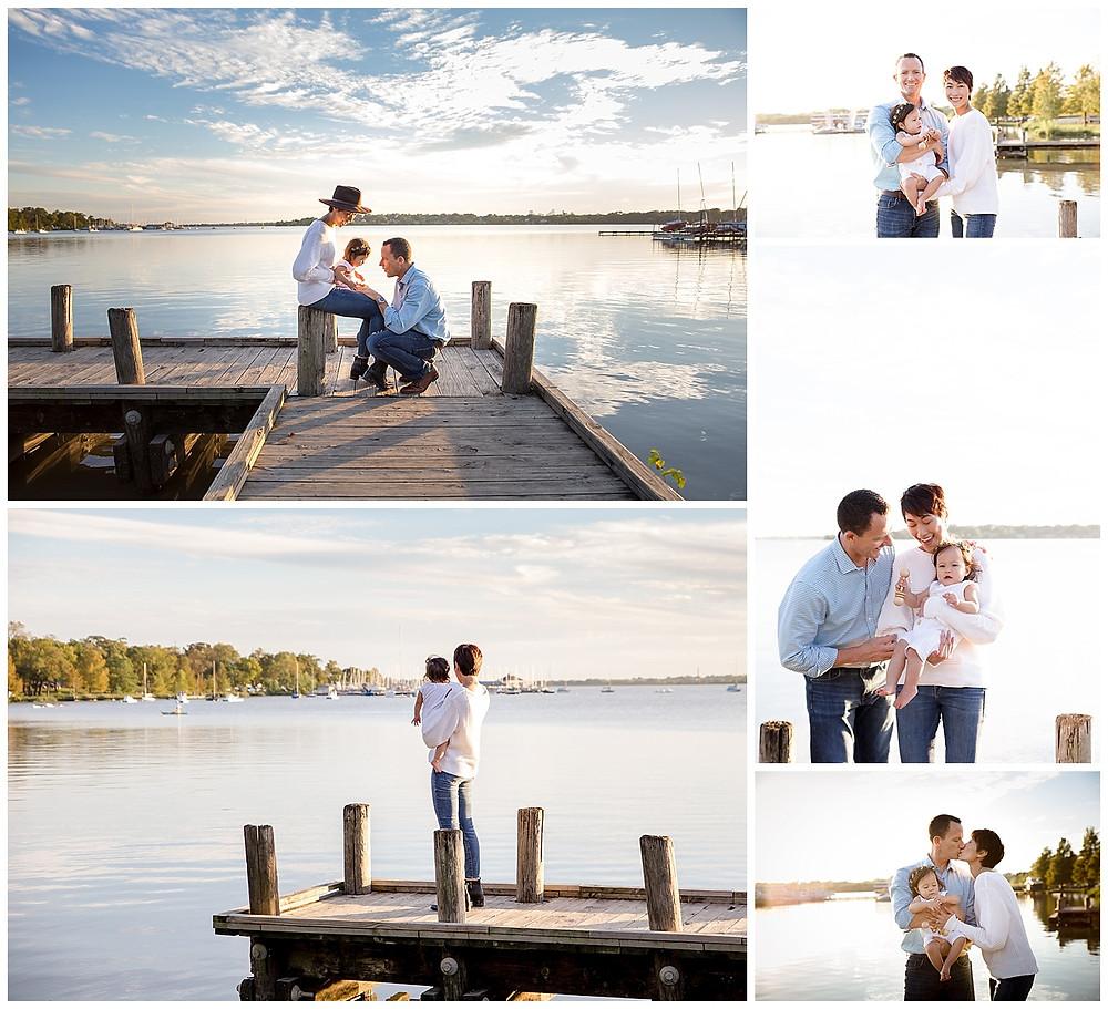 Family photo session at White Rock Lake in Dallas