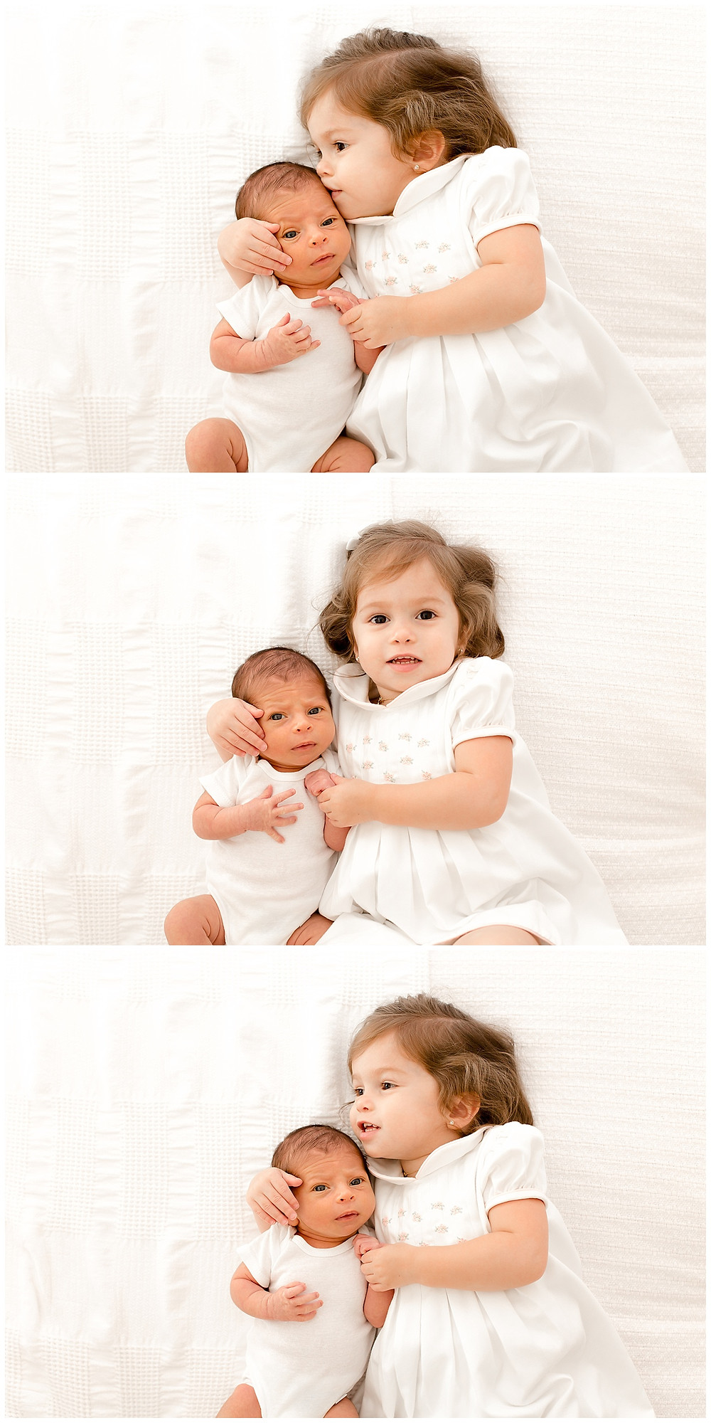 newborn with sibling images