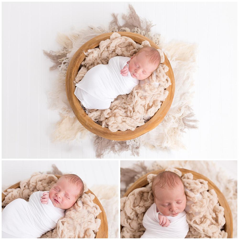 posed newborn baby