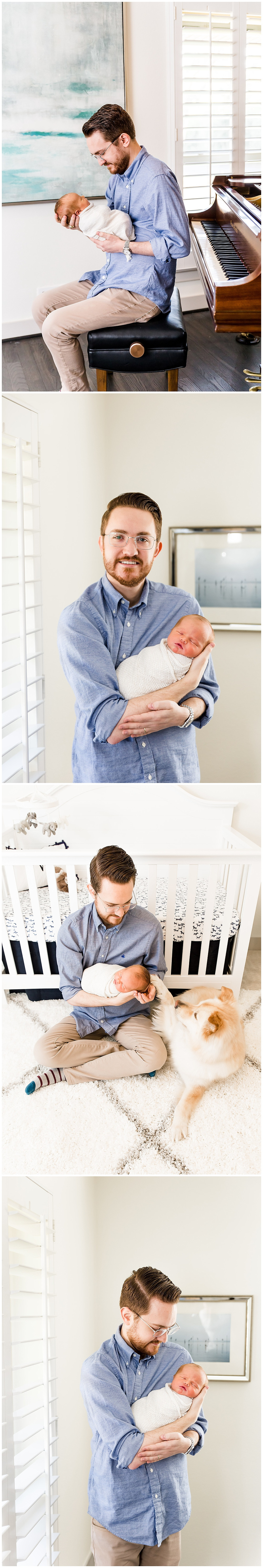 father and newborn pose ideas
