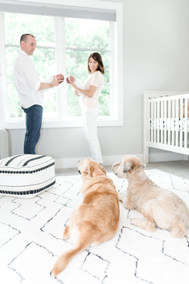 newborn photos with dog