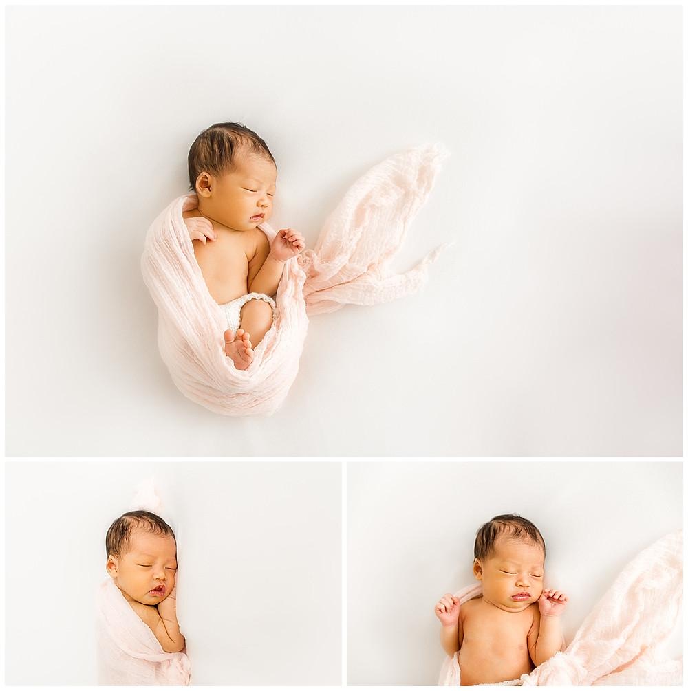 simple newborn photos and baby posing