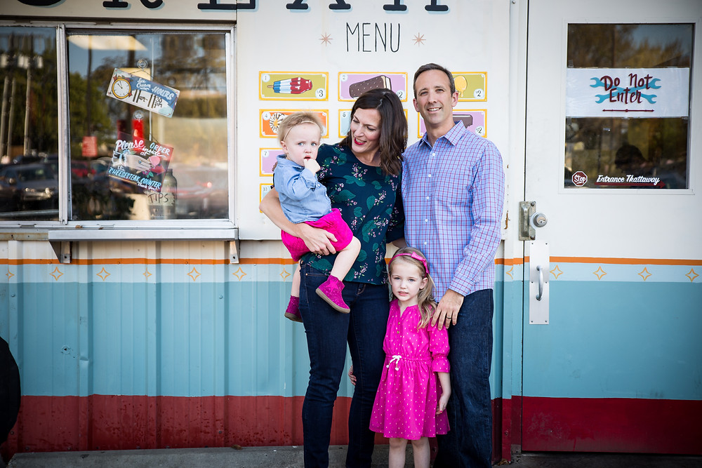ice cream truck family photography