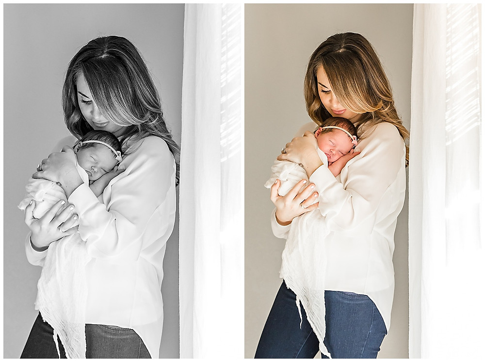 newborn photography with mom