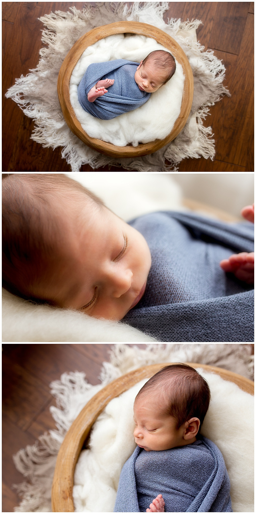 posed newborn in home session