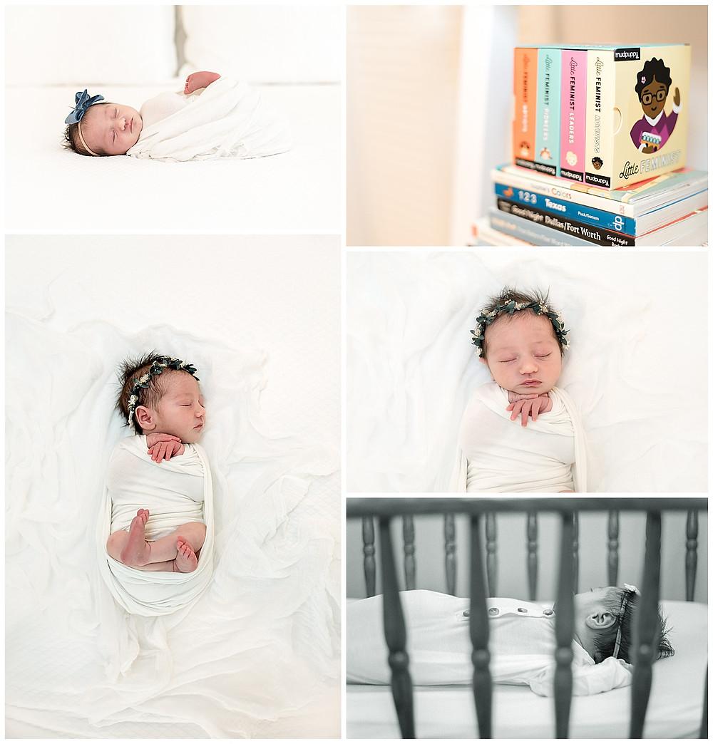 simple newborn poses