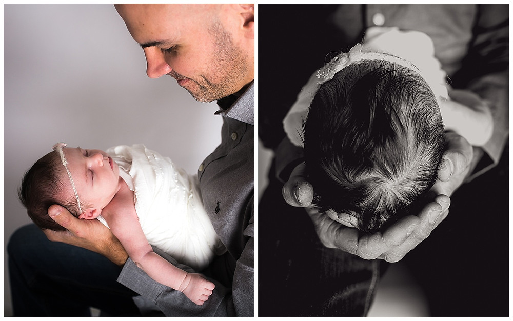 dallas newborn photographer, lexi meadows photography, daddy and baby
