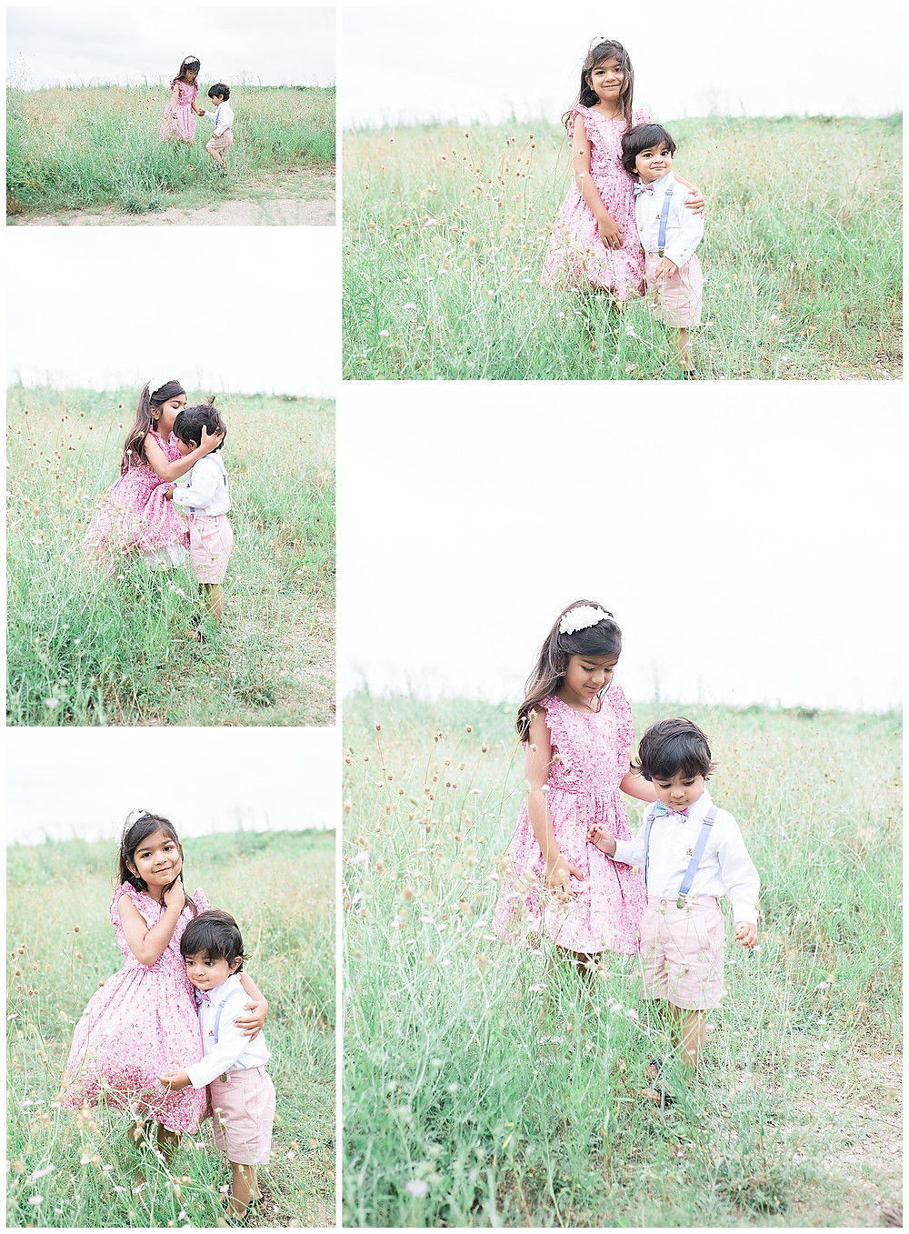 sibling and child portraits in Houston