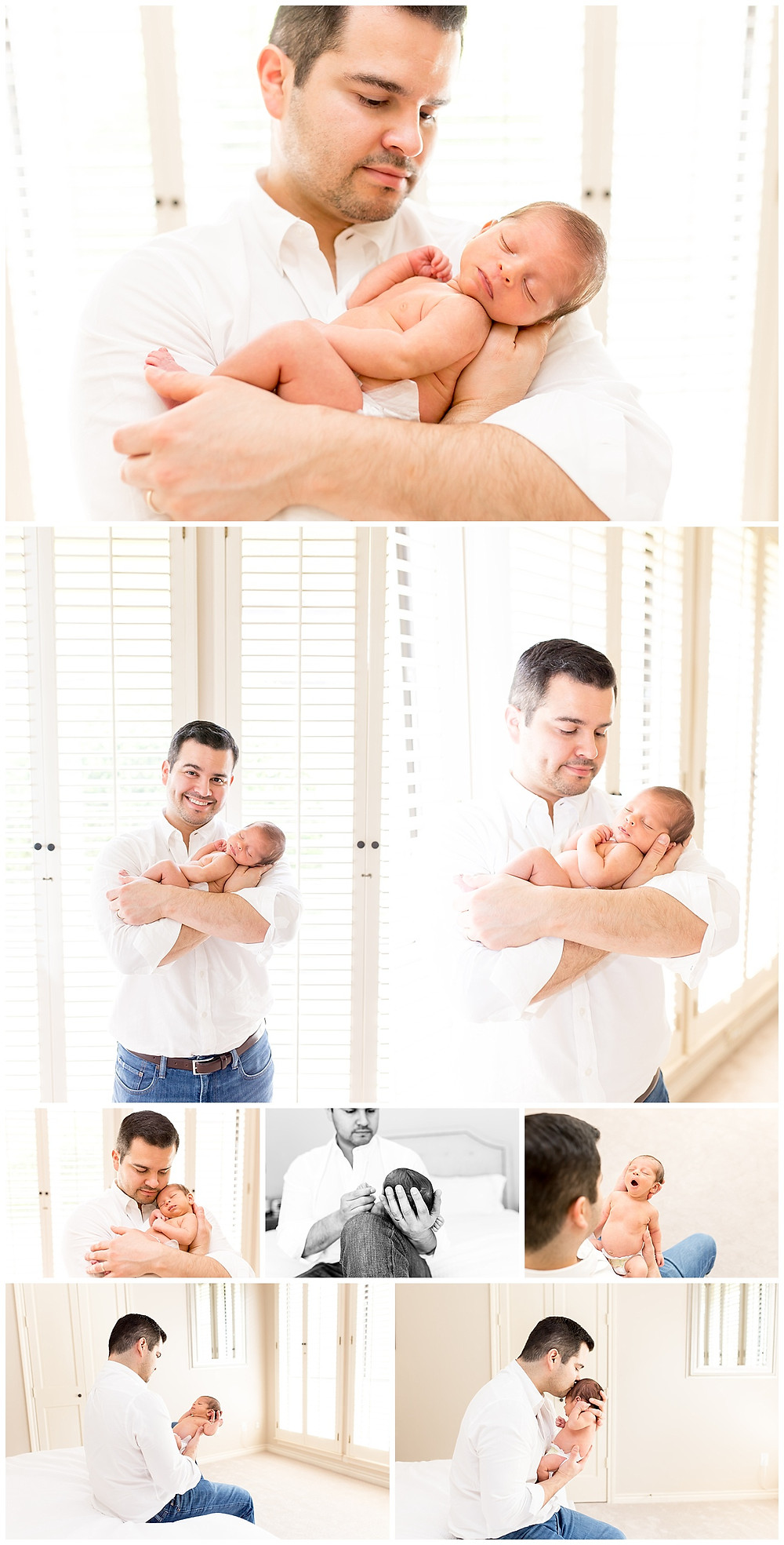 father and son newborn pictures