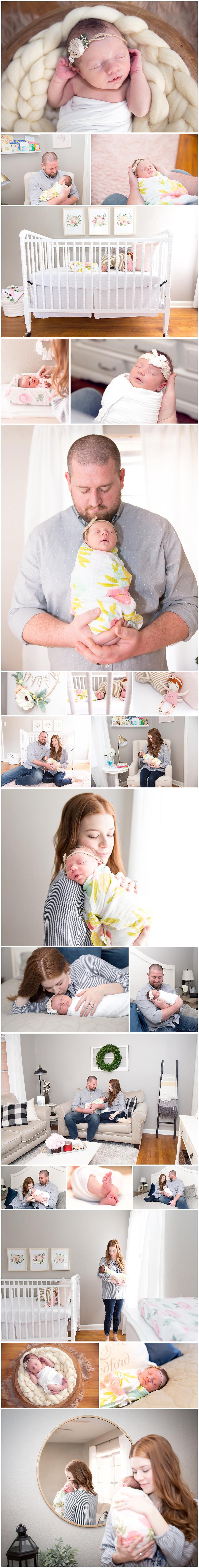 dallas newborn photographer, newborn photography, newborn photos, pink nursery, jenny lind crib, lexi meadows photography