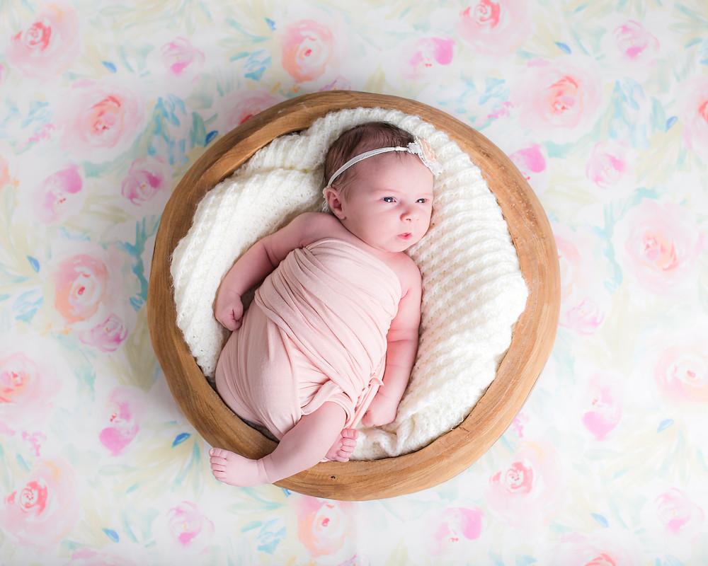 Dallas newborn Photographer, lexi meadows photography, baby in basket