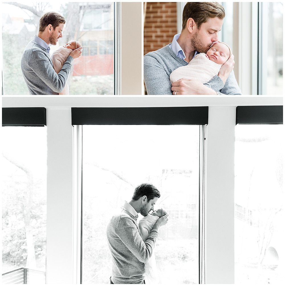 dad and baby posing ideas