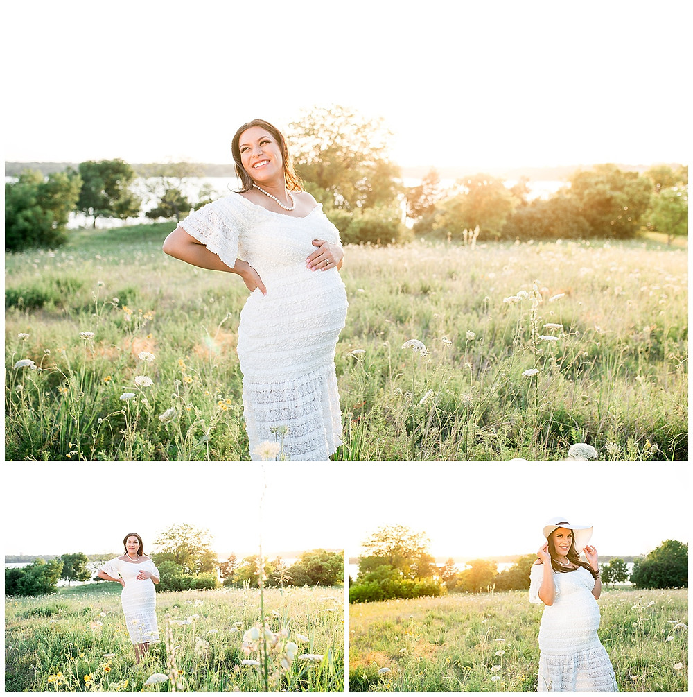 sunset maternity photo session, poses for pregnancy