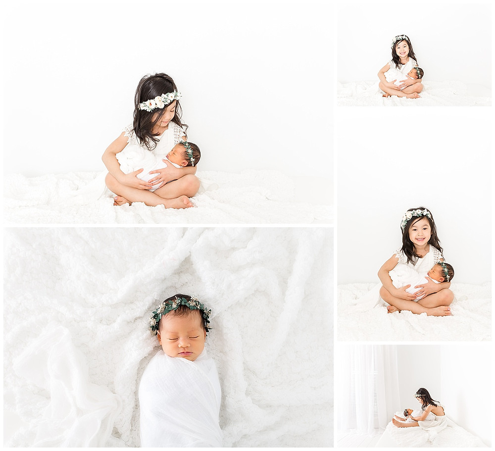 sibling pose ideas with newborn