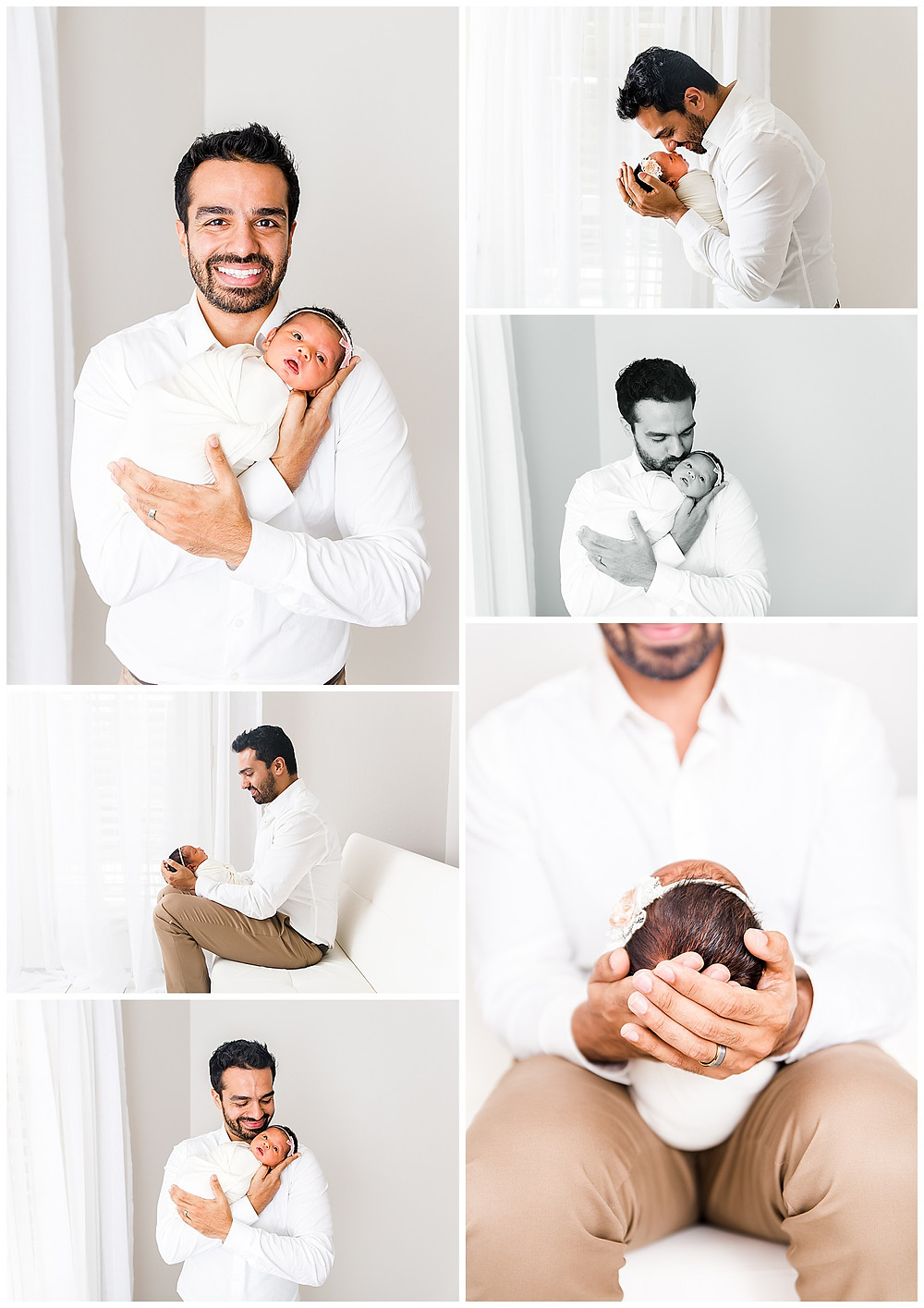 dad and baby poses