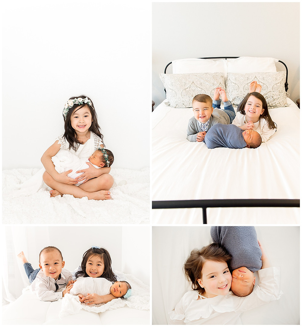 sibling photos with newborn