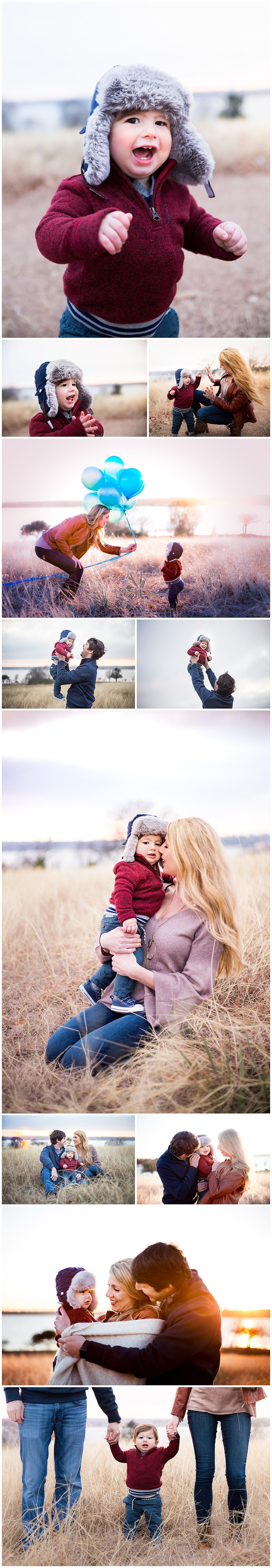 winter family photo session, dallas family photographer, one year milestone birthday pictures