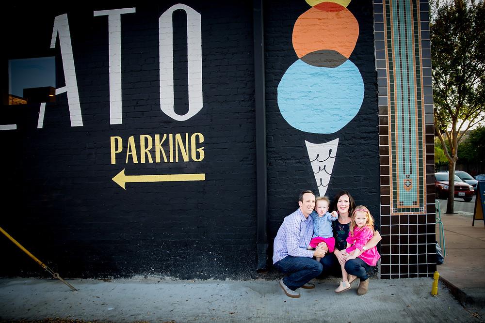 ice cream family photography
