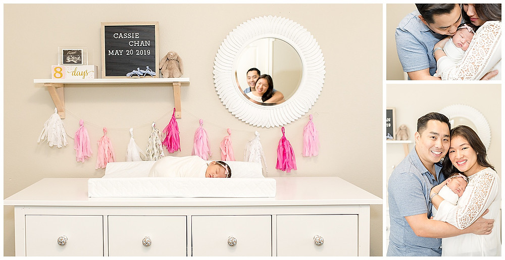 creative poses with baby and family