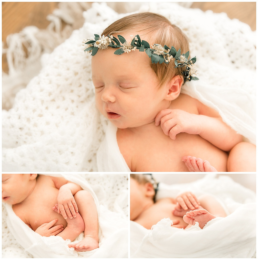 simple poses for newborn photography