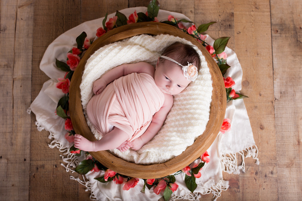 dallas newborn photographers, lexi meadows photography, baby in basket
