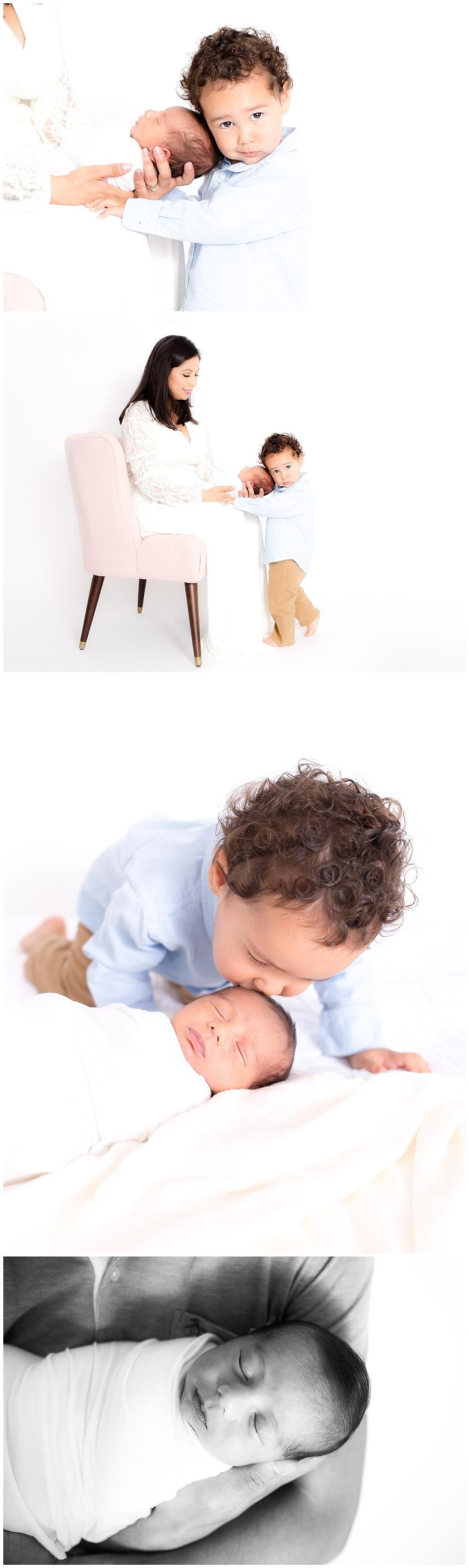 newborn photography in Dallas studio, natural newborn posing