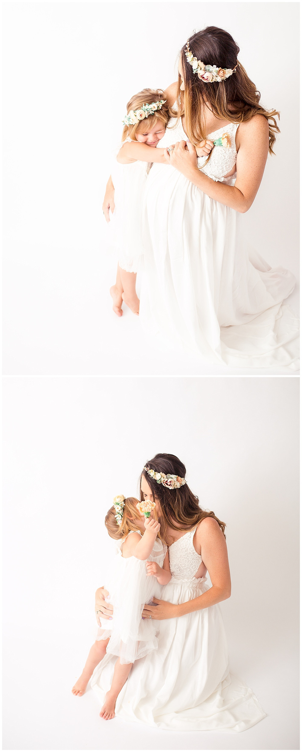 white maternity and pregnancy pictures