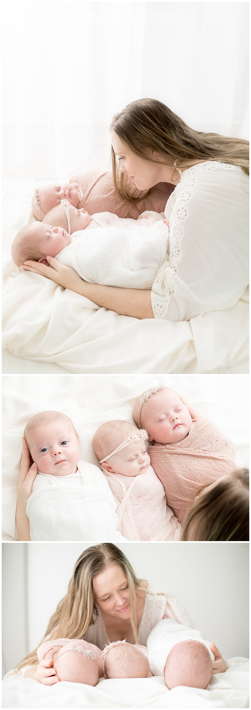 triplet newborn pictures