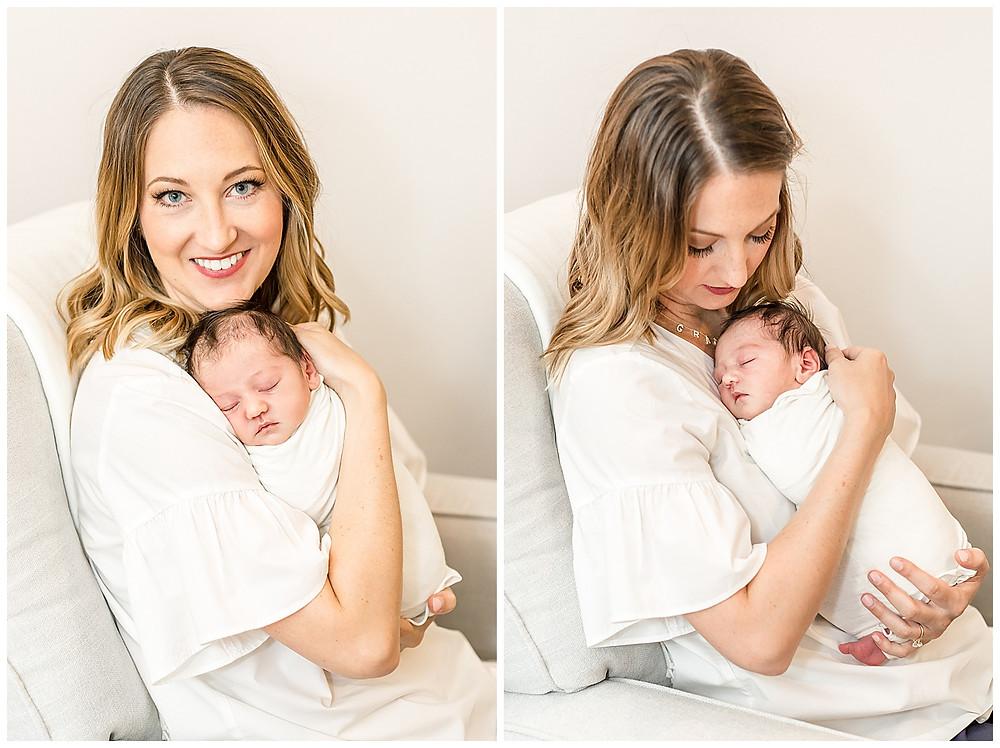 natural newborn posing