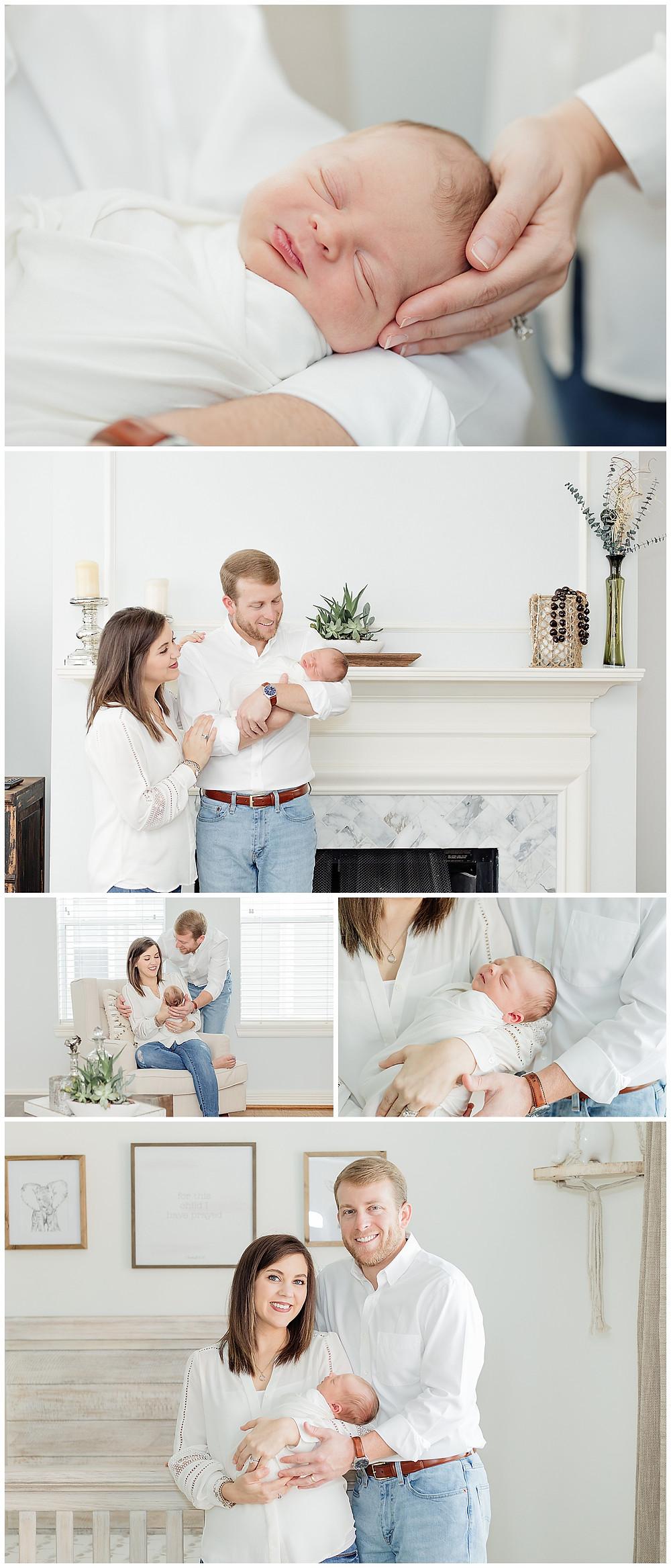 in home newborn photography near Houston