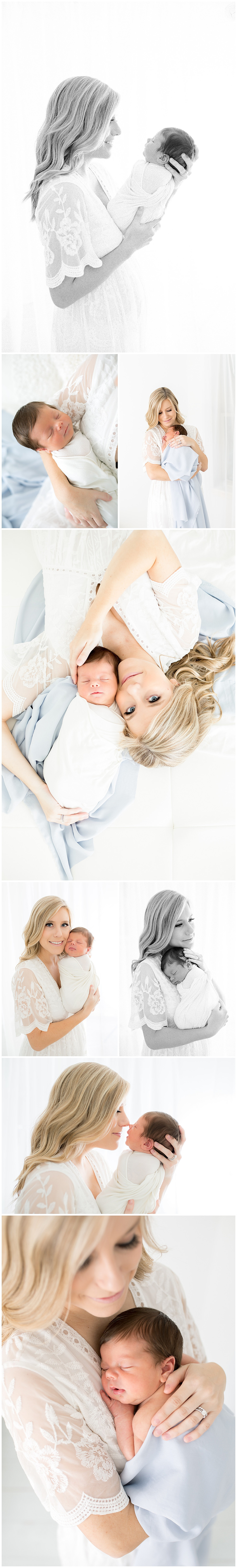 motherhood portraits in white studio