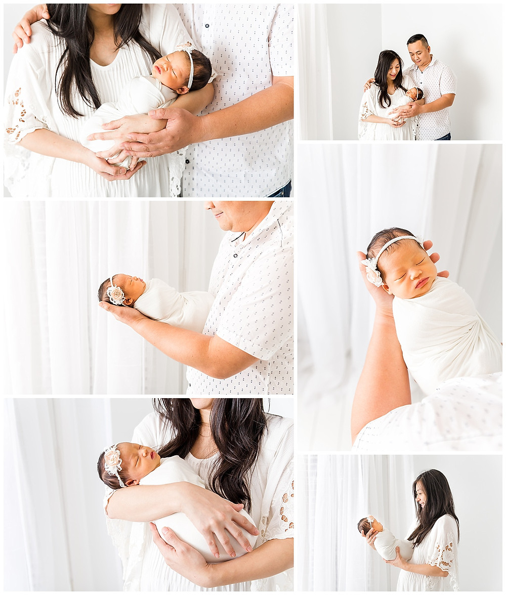 newborn pose ideas with family