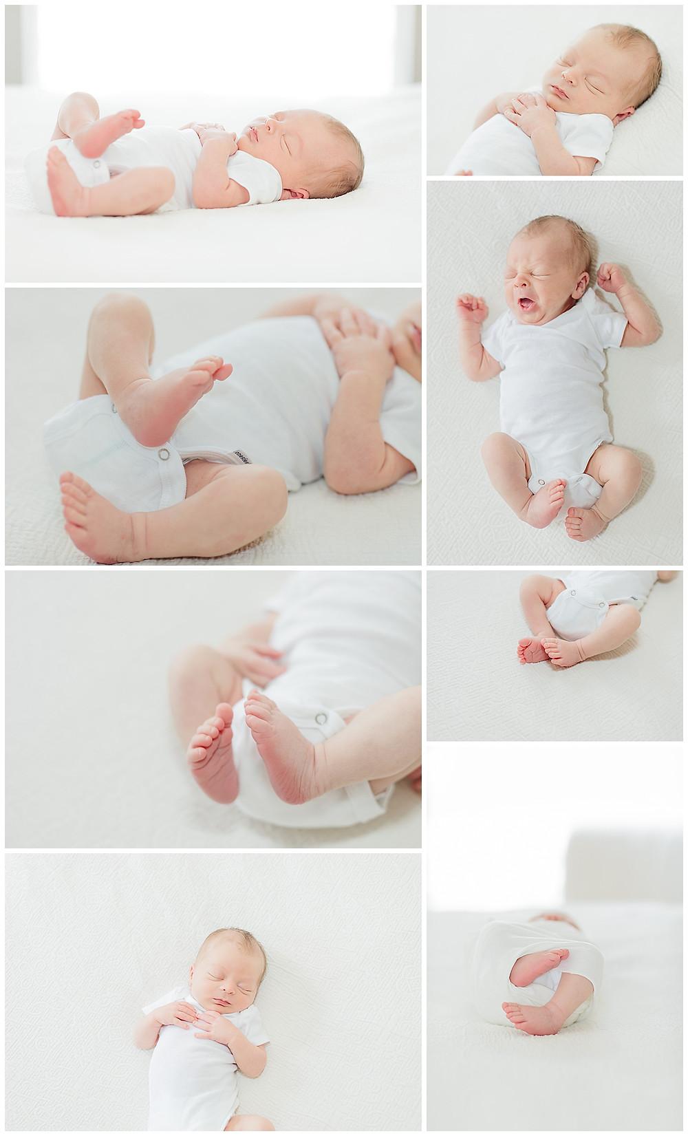 simple and safe newborn posing
