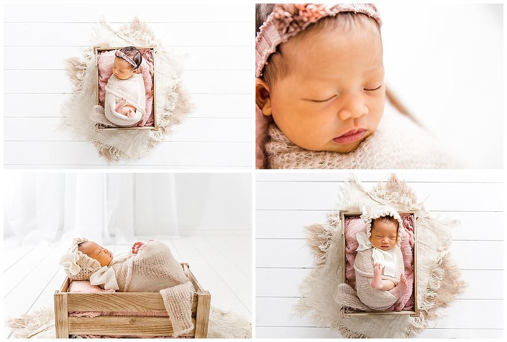 newborn photos with organic props
