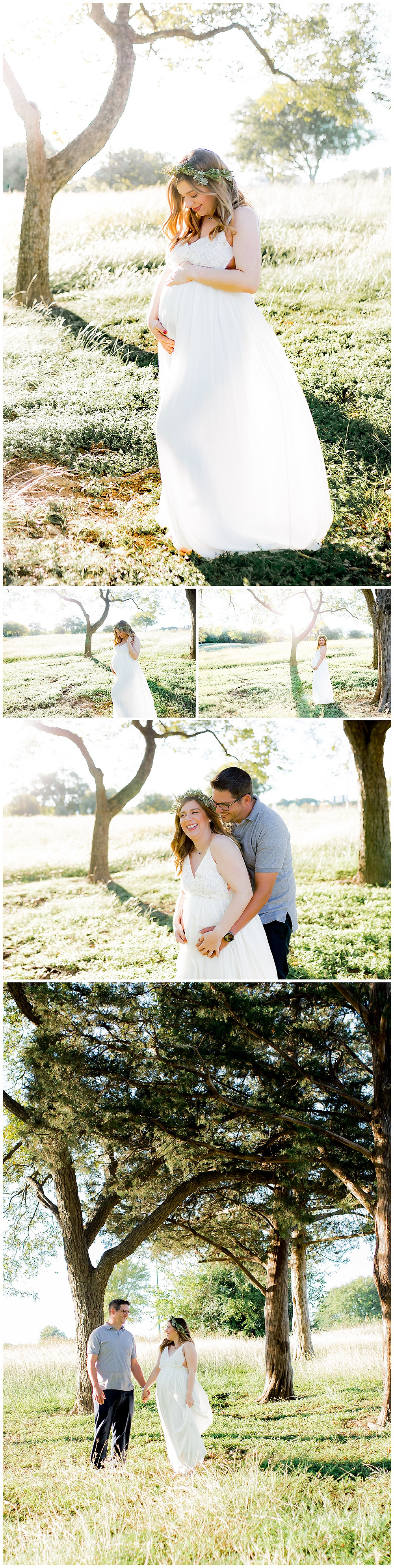 bohemian maternity pictures, boho photo session, floral crown examples
