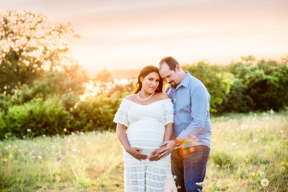 beautiful sunset photo of pregnancy, Lexi Meadows Photography