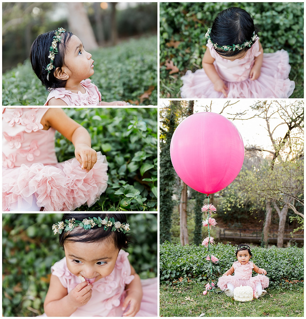 milestone photo session for baby girl