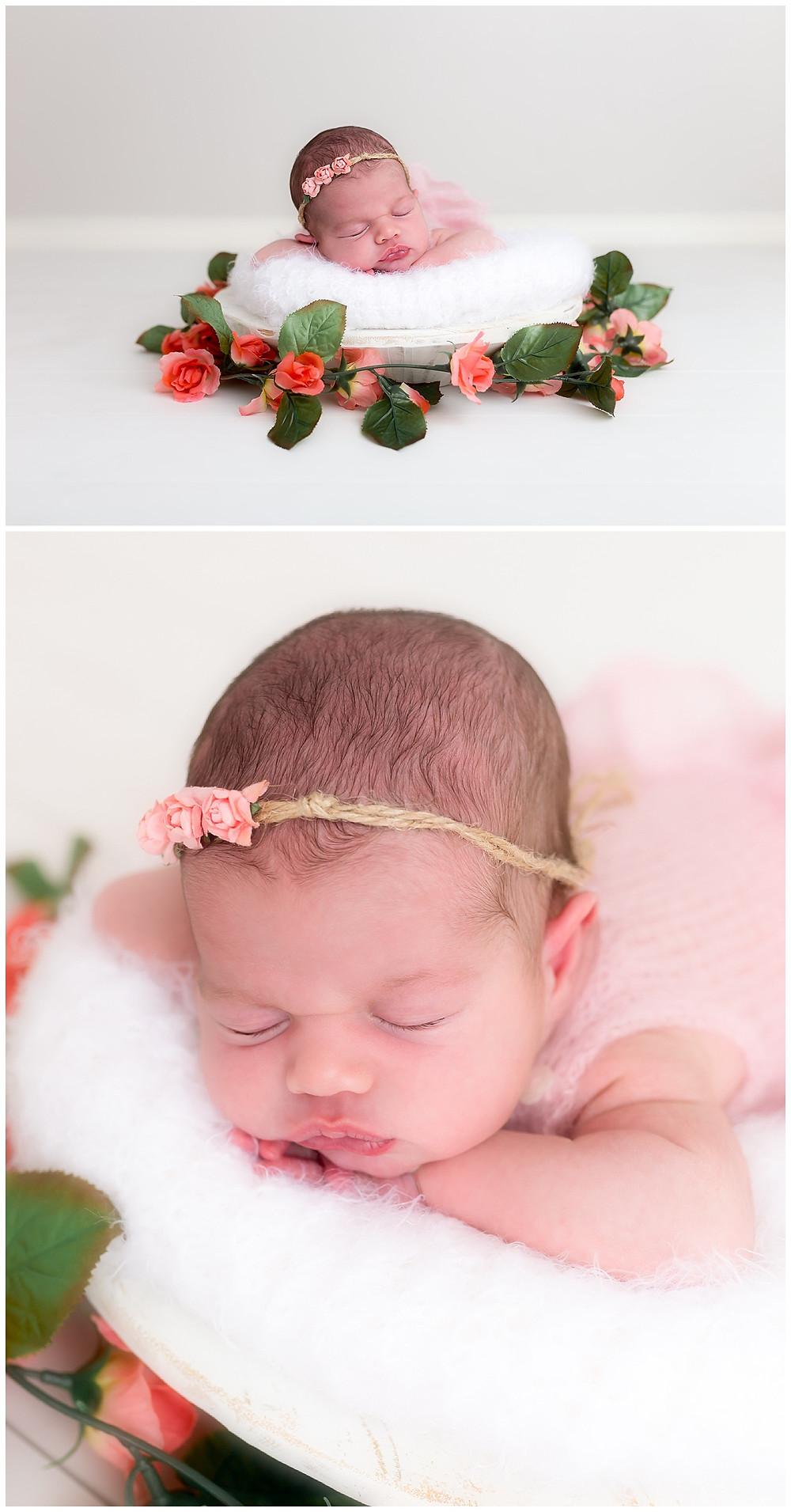 baby and newborn photography session, Dallas studio