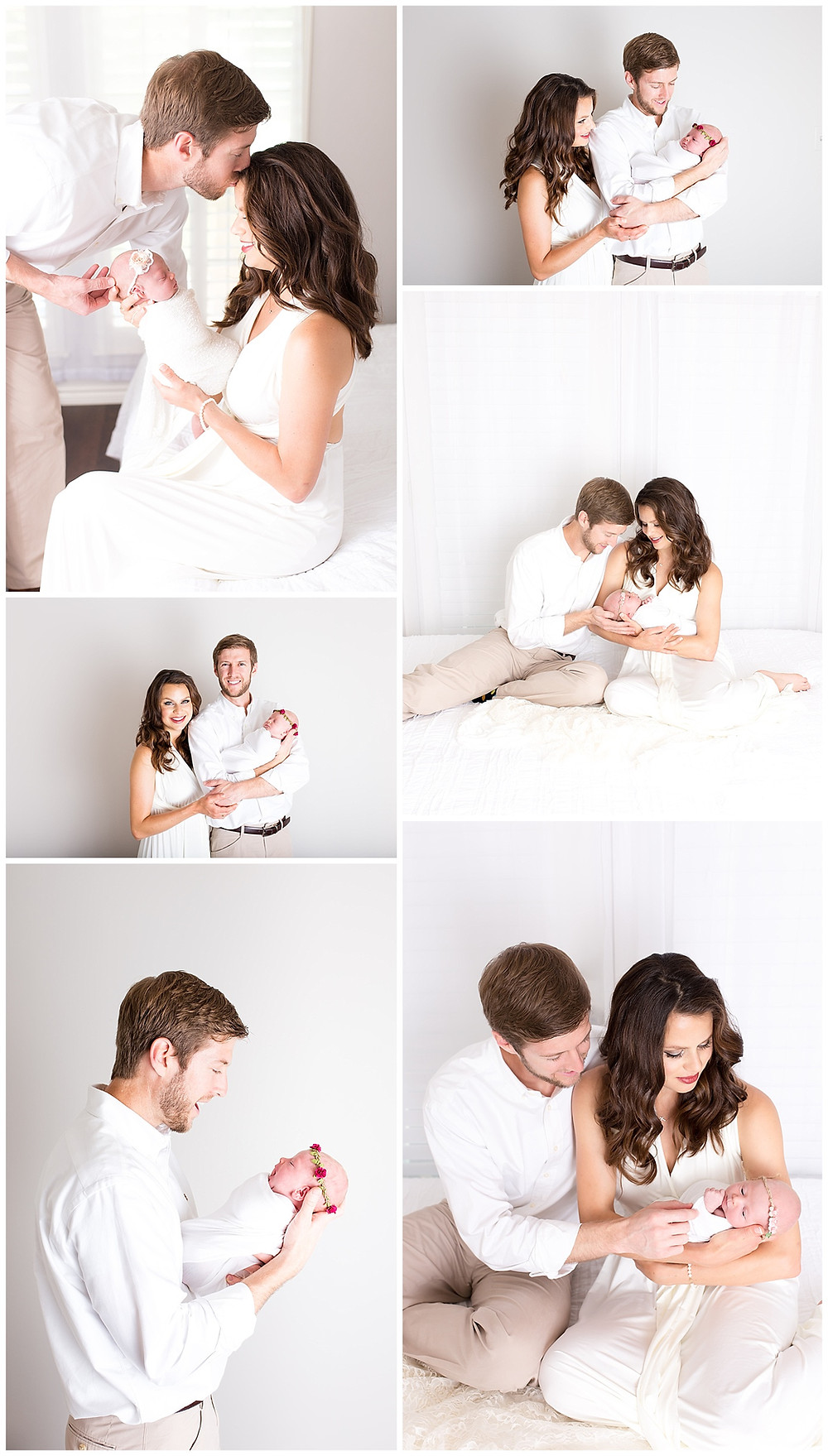 family photos with newborn baby, Dallas