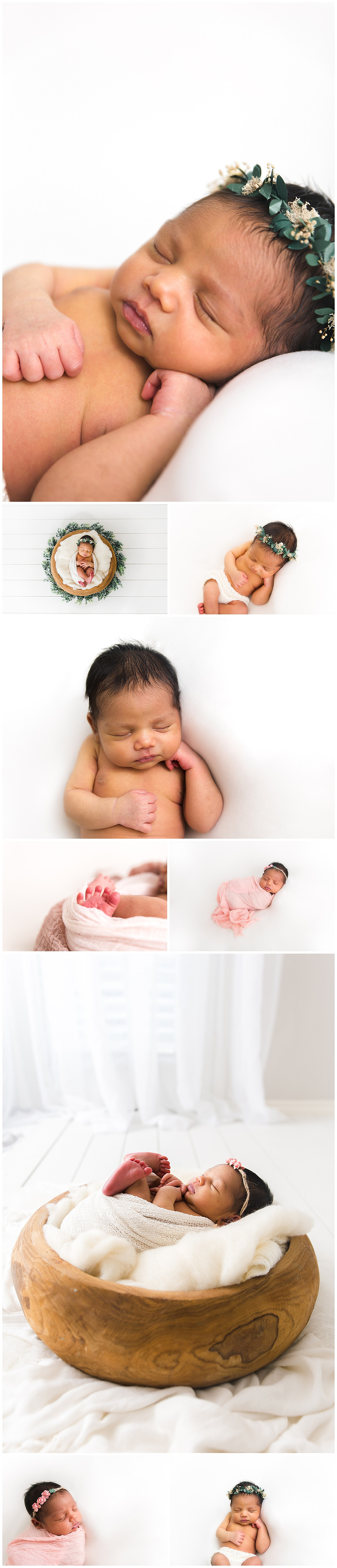 posing a newborn