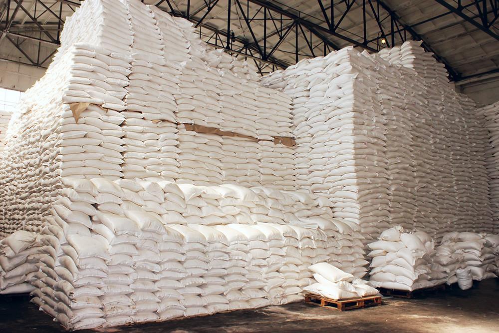 Warehouse full of sugar