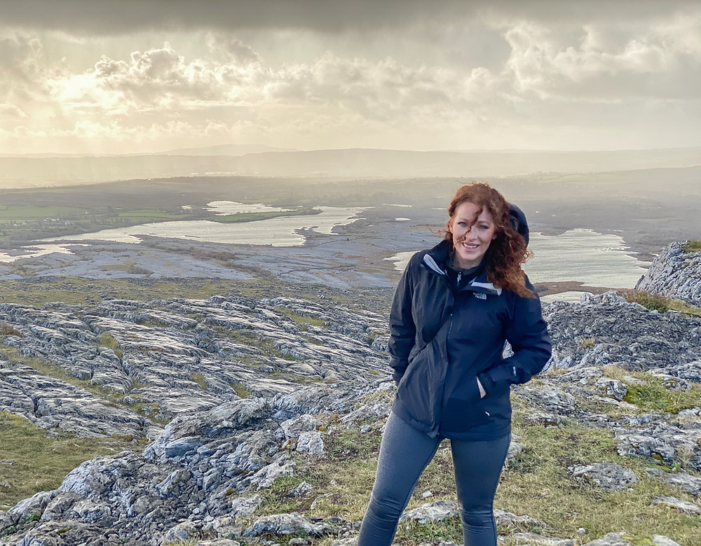 Leisa from Irish Camper Hire hiking the Blue Route up Mullaghmore